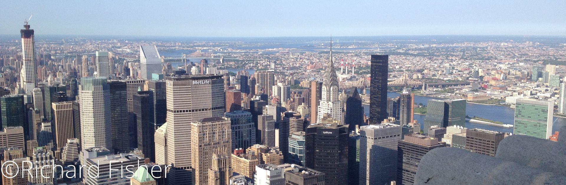 New York, travelling light.
